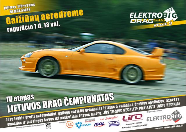 Lietuvos DRAG lenktynių čempionato IV etapas