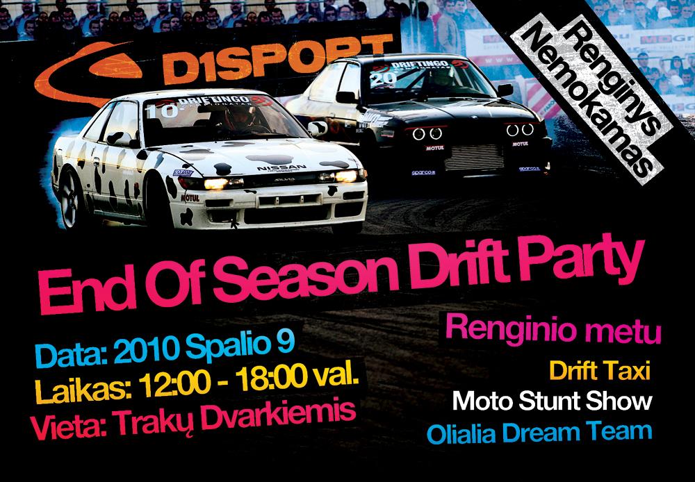 D1Sport Drift Party – End of season 2010-10-09
