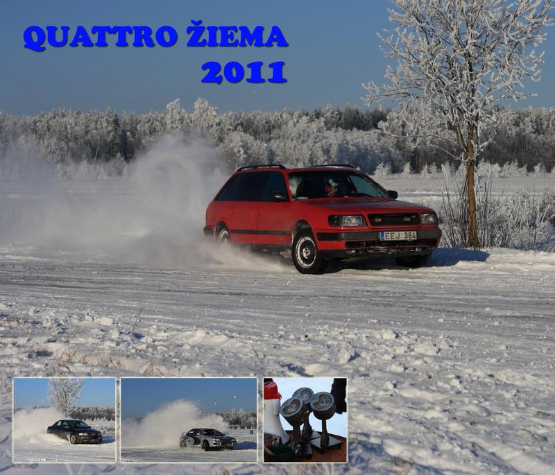 Draugiškas AWD automobilių slalomas 'Quattro žiema 2011'
