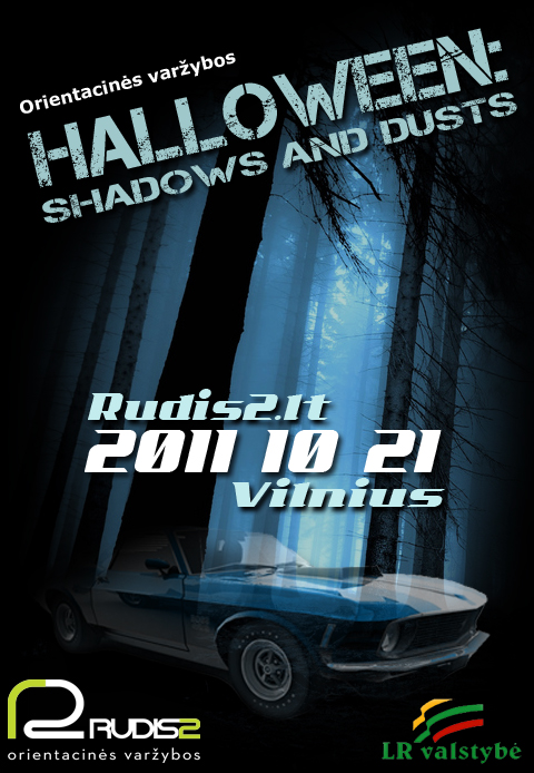 Orientacinės varžybos HALLOWEEN:shadows and dusts 2011 10 21