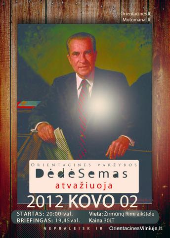 """Orientacinės varžybos """"Dėdė Semas atvažiuoja"""" 2012 03 02"""
