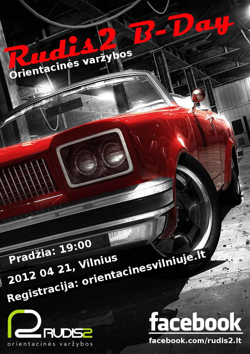 """Orientacinės varžybos """"Rudis2 B-Day"""" 2012 04 21"""