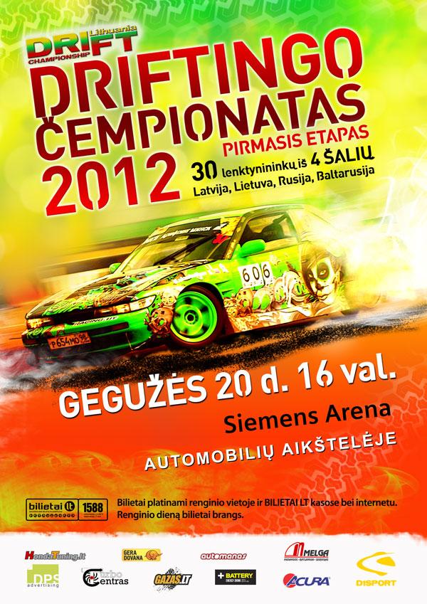 Driftingo Čempionato 1 Etapas 2012-05-20