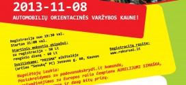 """Automobilų orientacinės varžybos """"Rakursai"""" Kaune 13.11.08"""