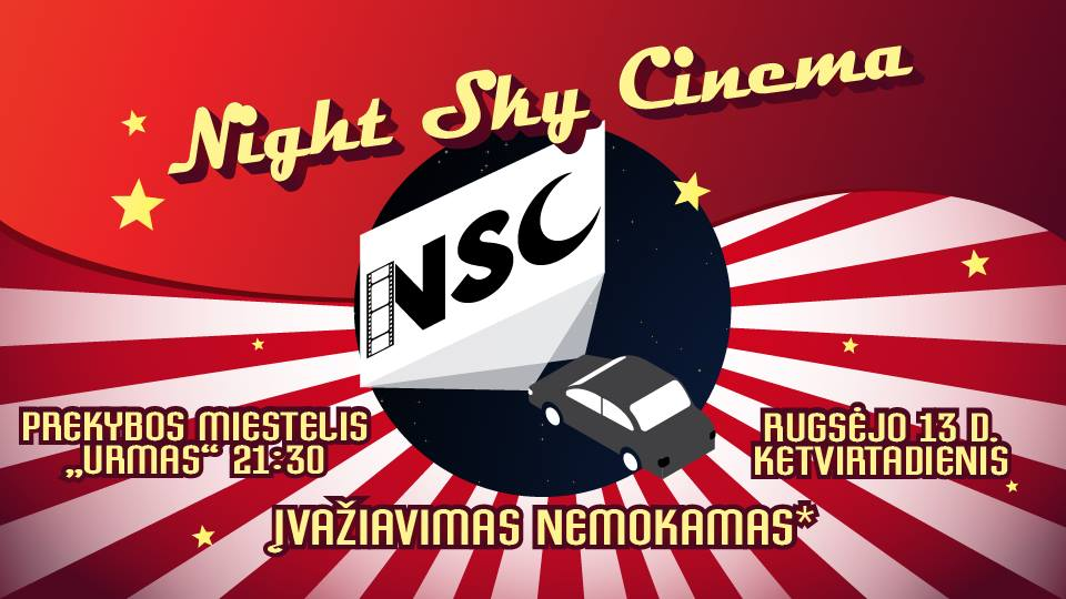 Night Sky Cinema | Season Closing rugsėjo 13 @ 21:30