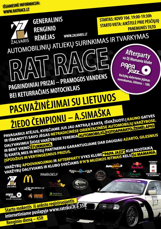 RAT RACE Kaunas Kovo 10d.