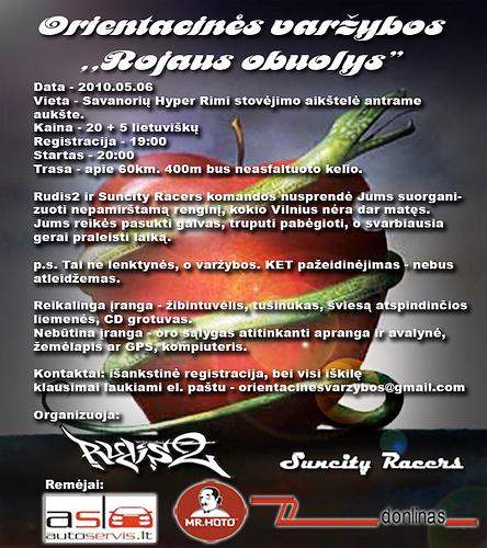 """Orientacines varžybos ,,Rojaus obuolys"""""""