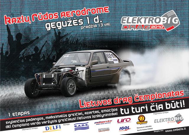 """2010m. Lietuvos """"Drag"""" čempionato I etapas"""