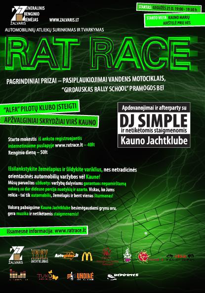 RAT RACE Gegužės 21d