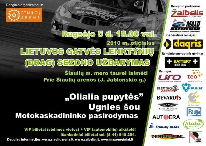 2010m. Lietuvos DRAG lenktynių sezono uždarymas