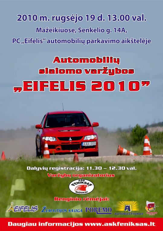 """Automobilių slalomo varžybos """"Eifelis 2010"""""""