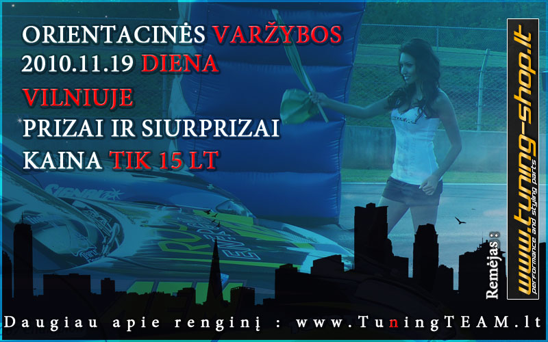 Tuningteam Orientacinės + Pool'as – 11.19