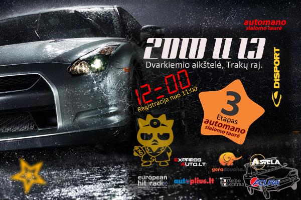 """""""Automano Slalomo Taurė"""" 3 etapas,2010-11-13"""