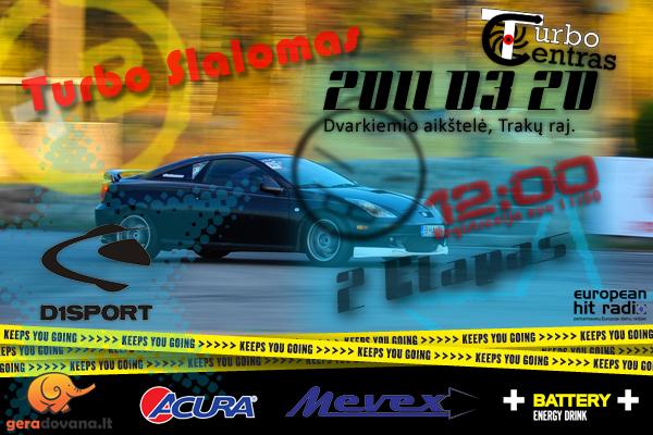 D1Sport Turbo slalomo 2 etapas