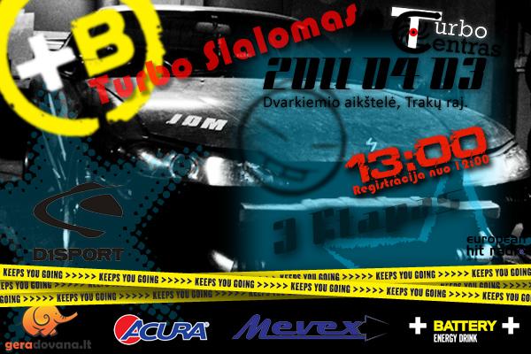 D1Sport Turbo slalomo 3 etapas