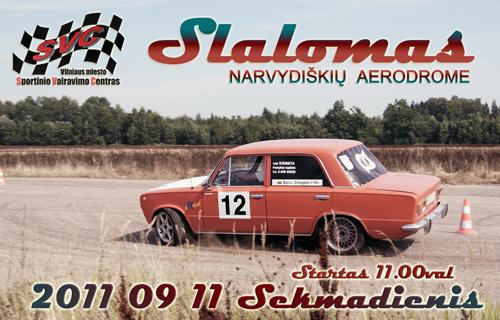 Slalomas Narvydiškių aerodrome 09-11