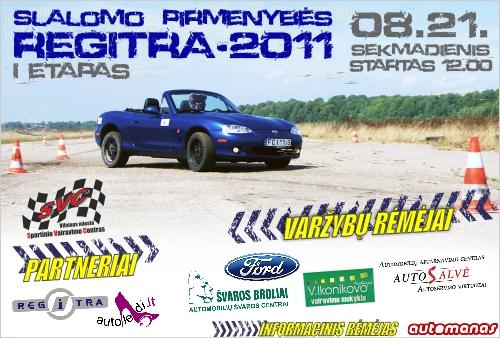 """Automobilių slalomas """"REGITRA-2011"""""""