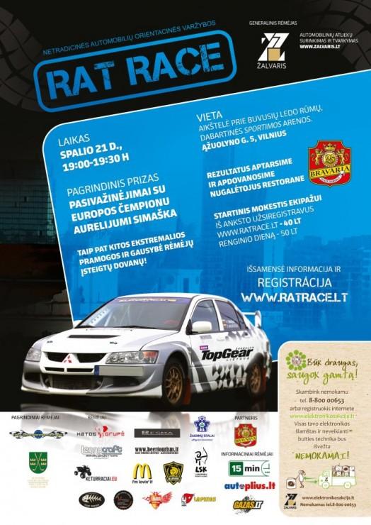 Netradicinės automobilių orientacinės lenktynės RAT RACE
