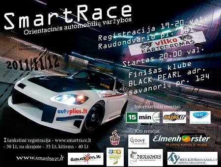SmartRace – 2011/11/12 – Kaunas – Orientacinės automobilių varžybos
