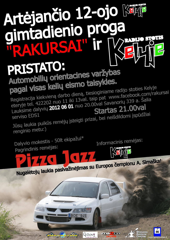 """Automobilių orientacinės varžybos """"Rakursai"""" Kaune 2012.06.01 mieste!"""