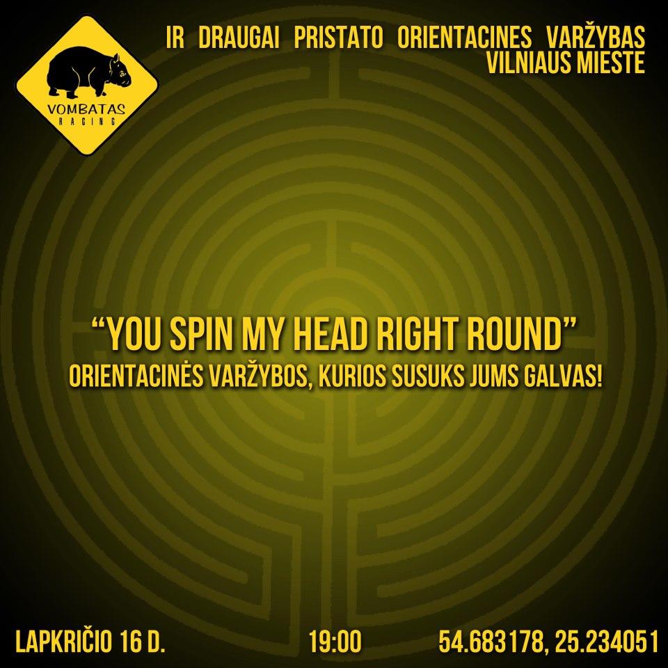 """Orientacinės varžybos """"You Spin My Head Right Round"""" 2012 11 16"""