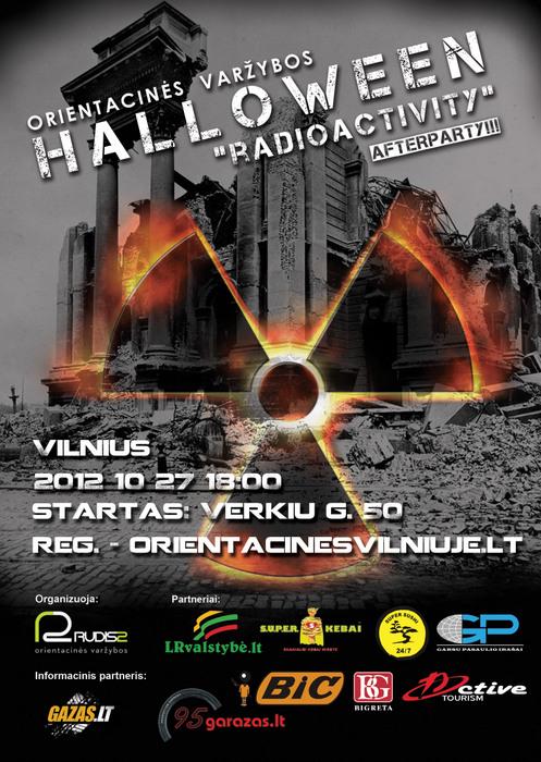 """Orientacinės varžybos """"Halloween Radioactivity"""" 2012 10 27"""