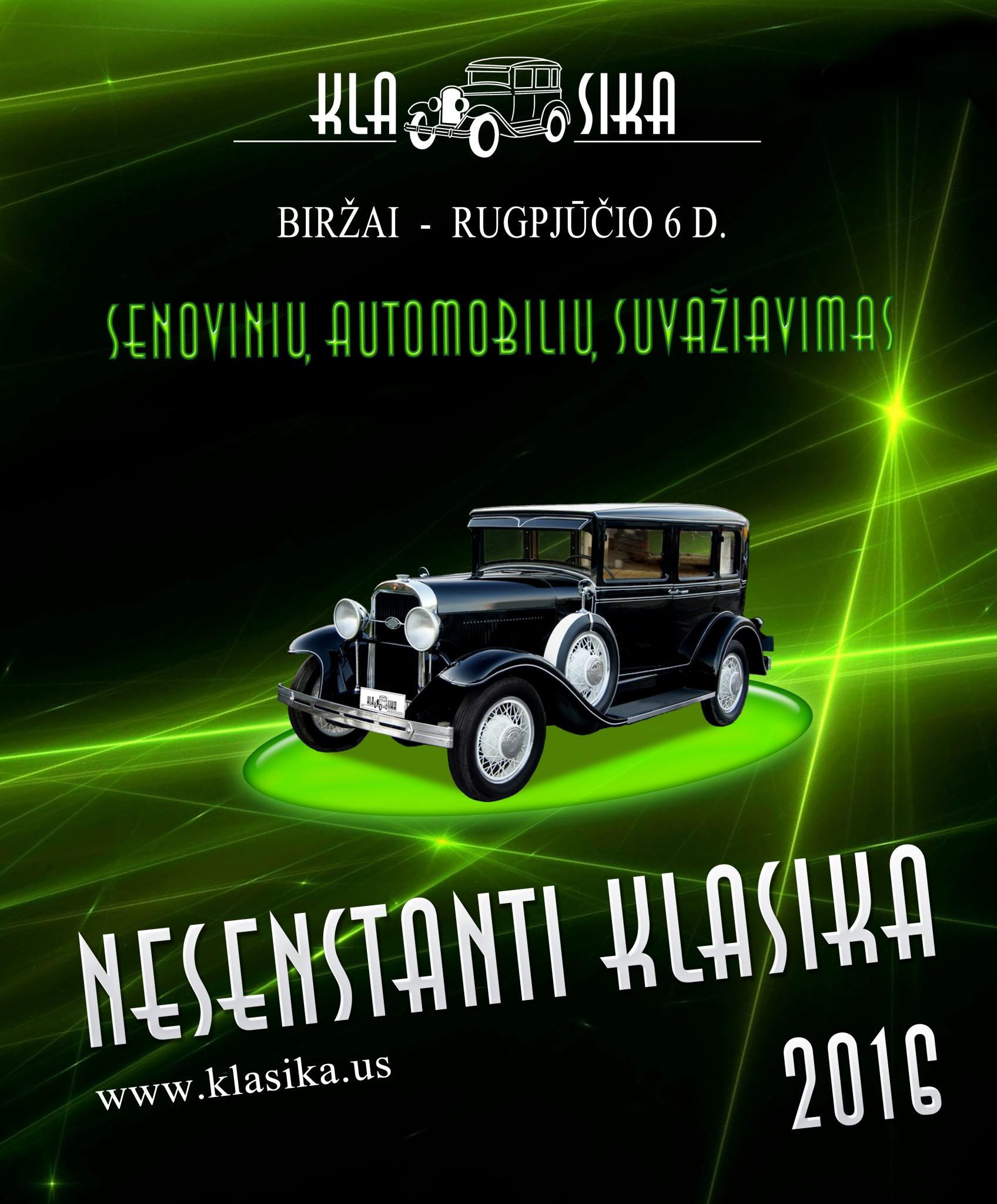 """Tarptautinis senovinių automobilių suvažiavimas """"Nesenstanti Klasika 2016"""""""